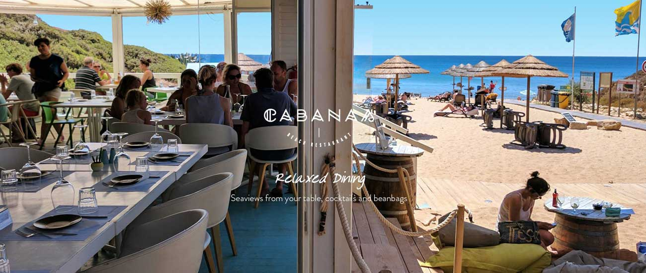 Cabanas Beach Restaurant and Bar, Burgau, Lagos, Algarve, Portugal