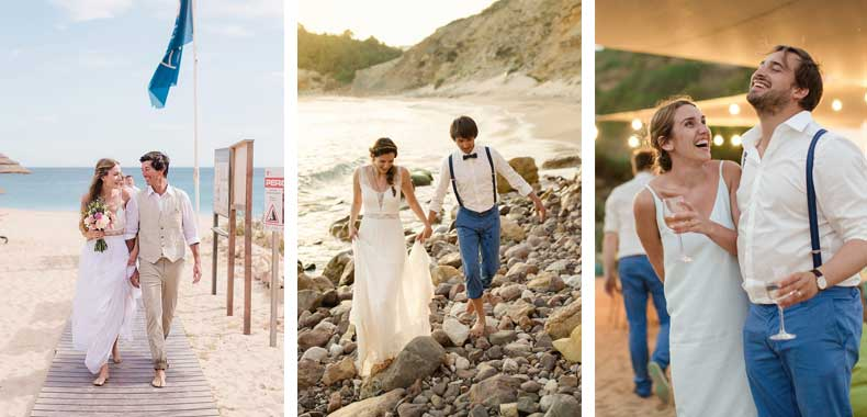 Weddings at Cabanas Beach Restaurant and Bar, Burgau, Lagos, Algarve, Portugal